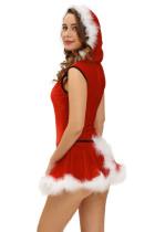 Tailleur Père Noël et jupe rouge