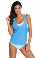 Aqua Sports Bra Tankini plavky s modrou vestou