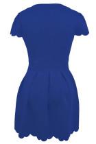 Μπλε γλυκό χτένισμα χτενισμένο φόρεμα skater