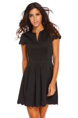 블랙 스위트 가리비 플레어 스케이팅 드레스