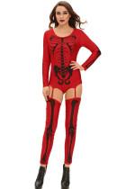 Piros Bad To The Csont Halloween csontváz jelmez