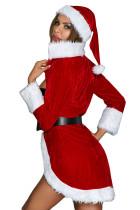 Christmas Queen Luxe Fur Trim 4pcs Kostyme