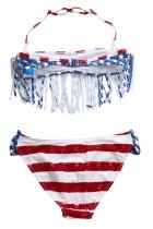 Baju Renang Bikini Bendera Amerika untuk Anak Perempuan
