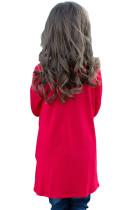 레드 트위스트 매듭 상세 긴 소매 여자 톱