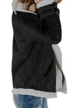 Musta Faux-mokkanahka vetoketjupusseilla