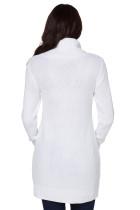 Bílá kabelka na krk kabelu Knit Sweater šaty