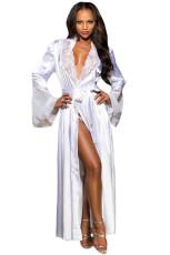 Beyaz Glamour Valentine Uzun Robe