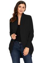 Musta Super Soft Long Sleeve Open Cardigan