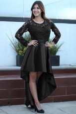 Koronkowa sukienka z długim rękawem, z długim rękawem