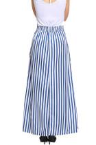 Jasnoniebieska pasiasta spódnica Maxi