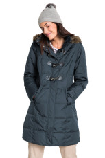 Grå Toggle Button Quilted Coat for Women