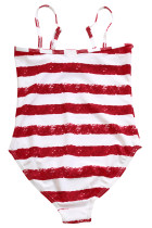 Bendera Striped Star Rumbai Little Girl Swimsuit