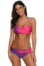 Purple Rosy Tie Dye Bikini Fürdőruha