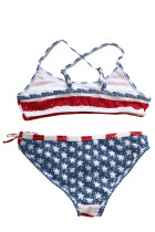 Stars & Stripes Flounce Bikini Swimsuit for Kids