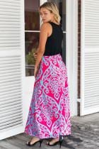 Niebieska spódniczka Tendril z nadrukiem Rosy Maxi
