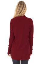Bourgogne Super Soft Long Sleeve Open Cardigan