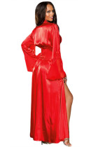 Kırmızı Glamour Valentine Uzun Robe