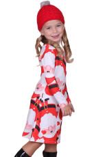 Amiable Santa Claus Trykt Girls Christmas Dress