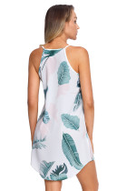 Φόρεμα Αμάνικο Φόρεμα με Φύλλα Δέντρο