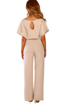 Abrikos Oh Så Glam Belted Wide Leg Jumpsuit