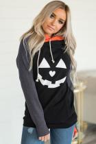 Double Hood Halloween Pumpkin pulóver