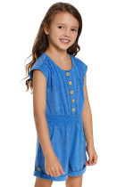 Gök Mavisi Küçük Kızlar Cassie Romper