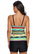Haut de maillot de bain Flyaway à rayures multicolores Rainbow