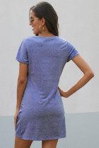 Sky Blue The Triblend Side Knot Dress