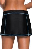 Kék Stitch Trim fekete úszó szoknya alján