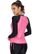Rashguard a maniche lunghe Rosy Black Colorblock