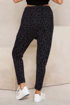 Grey Casual Skinny Leopard Print Quần