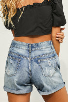Vintage Faded and Distressed Jean Shorts
