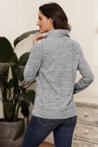 Sweat-shirt zippé à quart gris