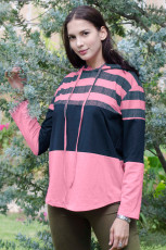 Rose Color Block húzózsinóros pulcsi