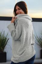 Szürke ki a váll kényes pulóver