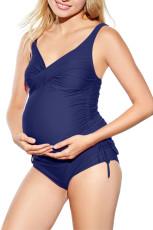 Nany Blue Maternity Tankini Badeanzug mit Rüschen