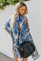 Modré Prowess Pom Pom Kimono