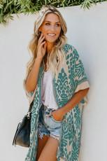 Zelená Prowess Pom Pom Kimono