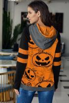 Narancssárga Halloween tök kapucnis