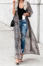 Kimono Duster imprimé gris
