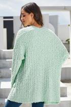 Mint Pebble Beach Cardigan Textured