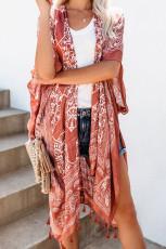 Kimono Anja Tassel Marron