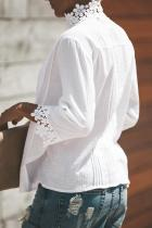 Top in pizzo bianco all'uncinetto Sweet Mary