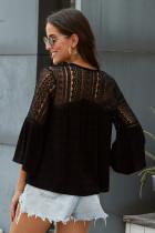 Black The Du Jour Crochet Blouse