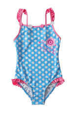 Blue White Polka Dot One Piece Swimsuit untuk Anak-Anak