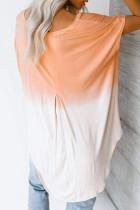 Màu cam trắng ombre màu khối mùa hè giản dị