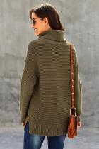 Sage Green barátságos hosszú ujjú pulóver