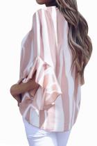 Camicetta a maniche 3 / 4 con maniche a righe verticali rosa