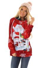 سانتا كلوز ورجل الثلج الكرتون هوديي