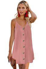 Różowa zapinana na guziki sukienka
